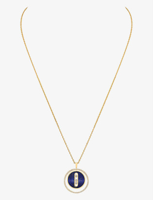 Messika Lucky Move 18ct yellow-gold, diamond and lapis necklace