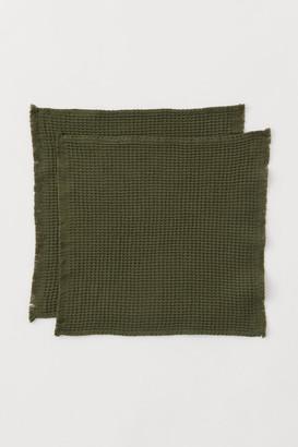 H&M 2-pack Washcloths - Green
