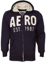 Aeropostale EST 1987 Navy Men Fashion Hoodie Hooded Zippered Sweatshirt (XL)