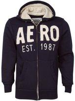Aeropostale EST 1987 Navy Men Fashion Hoodie Hooded Zippered Sweatshirt (XS)