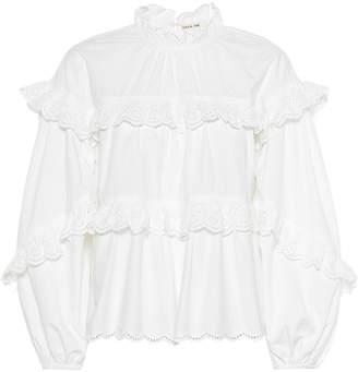Ulla Johnson Isa ruffled cotton blouse