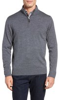 Tailorbyrd Grinnell'Quarter Zip Wool Sweater