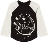 Stella McCartney White and Black Moon Nova Raglan Tee