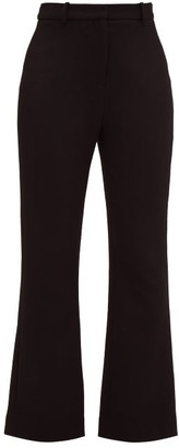 Goat Joey Wool-crepe Flared Trousers - Black