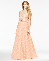 Say Yes to the Prom Juniors' Strapless Floral-Appliqué Gown, A Macy's Exclusive