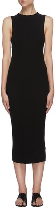 Ninety Percent Racer front ribbed knit dress
