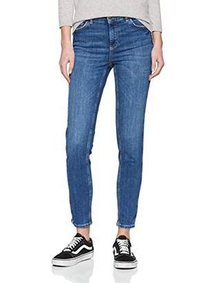 Pieces Women's Pcdelly DLX Skinny Mw Crop Piping Mb207 Jeans,(Size:)