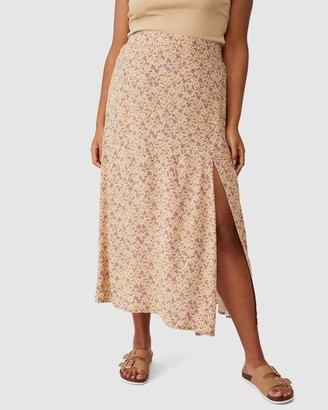 Cotton On Curve - Women's Neutrals Maxi skirts - Alana Split Maxi Skirt - Size 22 at The Iconic