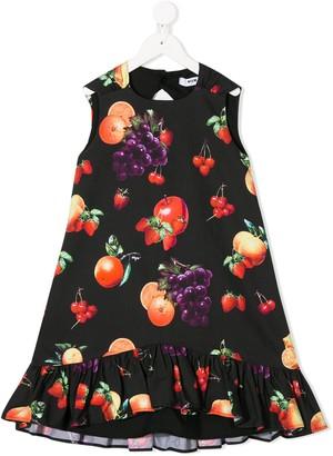 Msgm Kids Fruit-Print Sleeveless Shift Dress