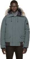 Canada Goose Green Down & Fur Chilliwack Bomber