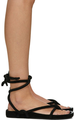 Isabel Marant Black Lastro Flat Sandals