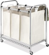 Whitmor 6097-5794 Deluxe Chrome Triple Laundry Sorter