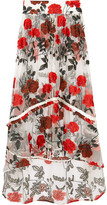 GANNI - Monroe Embroidered Tulle Maxi Skirt - DK38
