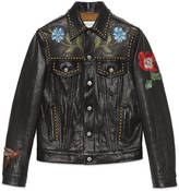 Gucci Painted leather jacket