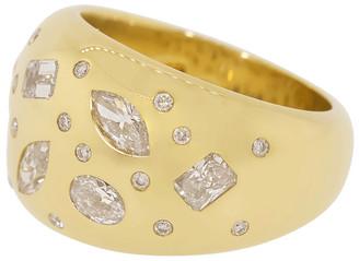 Kwiat Yellow Gold Cobblestone Diamond Ring