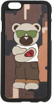 Furla bear print phone case - men - Leather/Acetate - One Size