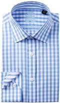 English Laundry Checkerboard Trim Fit Dress Shirt