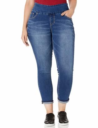 Jag Jeans Women's Plus Size Amelia Pull on Ankle Jean w/Detailed Hem