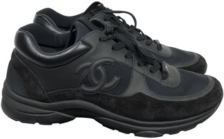 Chanel Black Exotic leathers Trainers