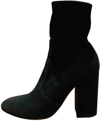 Valentino Black Suede Ankle boots