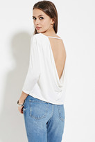 Forever 21 FOREVER 21+ Contemporary Cowl-Back Top
