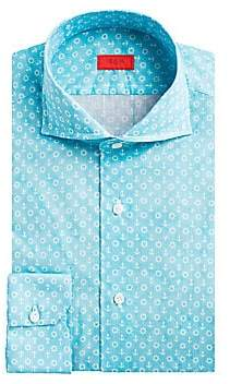 Isaia Men's Contemporary-Fit Anchor Print Dress Shirt