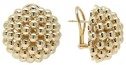 Lagos 18K Gold Caviar Bold Button Stud Earrings