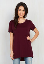 Simplicity on a Saturday Tunic in Merlot in L