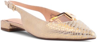 Cecelia New York Jacqueline Slingback Pointed Toe Flat
