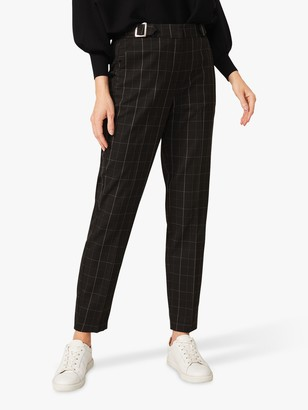 Phase Eight Vienna Check Trousers, Black