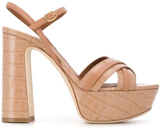 Malone Souliers Cross Strap Heeled Sandals