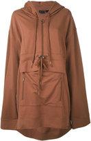 Puma oversized hooded sweatshirt - women - Cotton/Polyester/Spandex/Elastane - XS