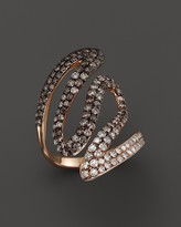 Bloomingdale's Brown and White Diamond Statement Ring in 14K Rose Gold - 100% Exclusive