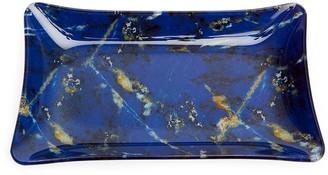 Lola Rose London Rectangular Stone Print Treasure Tray Lapis Lazuli