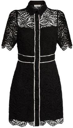 Sandro Paris Lace Shirt Dress