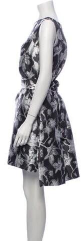 Thumbnail for your product : Osman Floral Print Mini Dress Grey