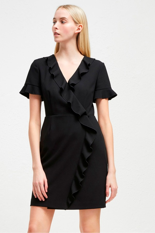 French Connection Alianor Stretch Frill Dress