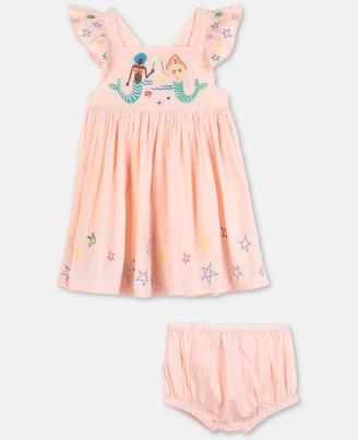 Stella McCartney mermaids embroidery cotton dress