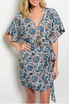 Ark & Co Floral Blue Dress