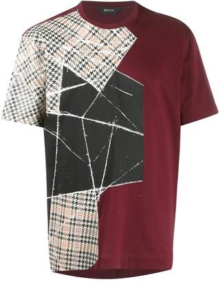 Ermenegildo Zegna contrast-panel T-shirt