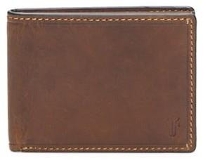 Frye Logan Slim Leather ID Billfold Wallet