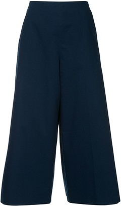 DELPOZO pleated cropped trousers