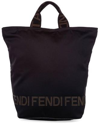 Fendi Pre-Owned Logo-Print Tote Bag