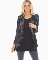 Soma Intimates Divine Terry Shirred Back Wrap Abstract Plaid