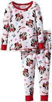 Disney Minnie Mouse Cotton Thermal Pajama Set, Girls Size-8
