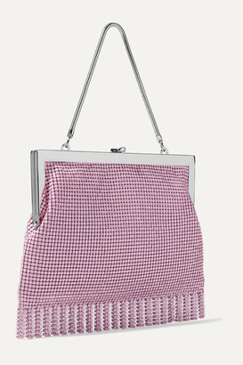 HVN Zoe Fringed Chainmail Tote - Pink