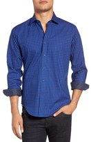 Bugatchi Men's Check Shaped Fit Sport Shirt
