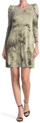 MSK 3/4 Puff Sleeve Dress