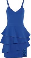 Ungaro Ruffled crepe peplum mini dress
