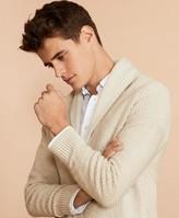Brooks Brothers Textured Shawl-Collar Cardigan Sweater